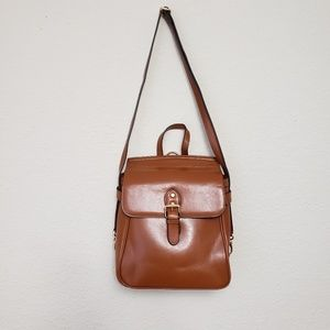 AGEBEL Brown Retro Cowhide Leather Bag